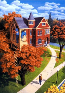 Fantastic Optical Illusion painting by Rob Gonsalves (webneel.com)