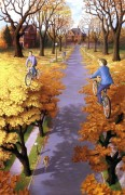 Fantastic Optical Illusion painting3 by Rob Gonsalves (webneel.com)