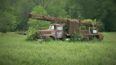 Abandoned truck in Hocking Hills (photo by Mitch Teemley)