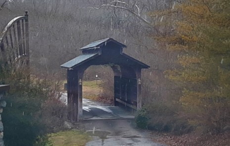 Covered bridge, Cosby Township