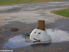 Funny-Melting-Snowman-Picture