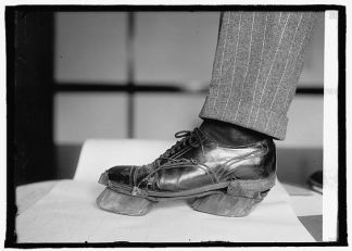 'Cow Shoes' used by moonshiners to disguise their footprints during the prohibition era (reddit.com)