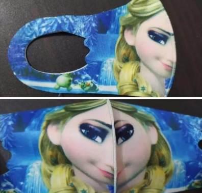 'Frozen Elsa COVID mask, keeps you safe and weird' -FarisFrontier (en.kueez.com)