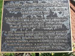 Victoria Woodhull plaque