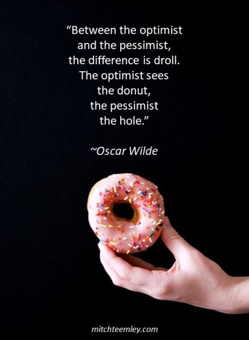 Donut quote (Wilde)