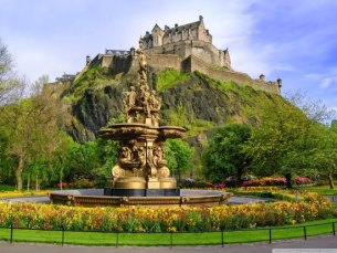 Edinburgh Castle and Princess Street Gardens