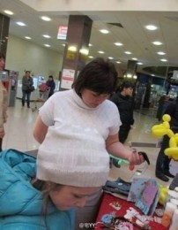 'Excuse me, but there's a lady on your head' - via DaFunOne (cheezburger.com)
