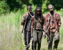 Michonne with walkers