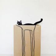 Tall cat in a tall box (etsy.com)