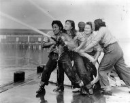 Volunteer firefighters in Pearl Harbor, 1941 (nbcnews.com)
