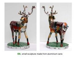 Aluminum can 'Elk' by Michelle Reader (slideshare.net)