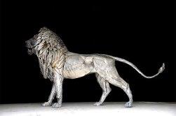 'Aslan' scrapmetal lion by Selçuk Yılmaz (theendearingdesigner.com)