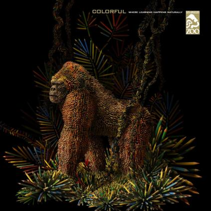 Colored pencil 'Gorilla' poster for Los Angeles Zoo (adsoftheworld.com)