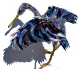 'Crane' made from shattered CD pieces by Sean D. Avery (home-designing.com)
