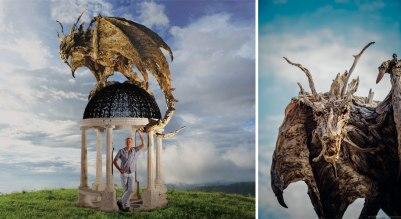 Driftwood Dragon 1 by James Doran-Webb (demilked.com)