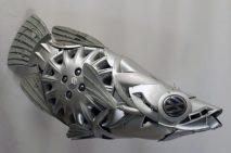 Hubcap 'Archer Fish' by Ptolemy Elrington (hubcapcreatures.com)