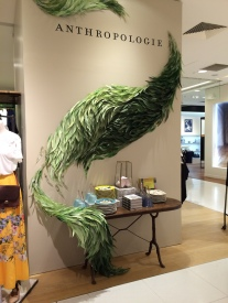 In-store sculpture made from leaves, by Emily Henson and associates (lifeunstyledblog.com)