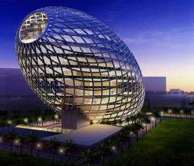 Cybertecture Egg Building, Mumbai, India (youramazingplaces.com)