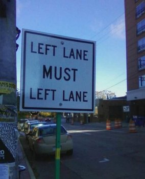 Left Lane Must Left Lane (winkgo.com)