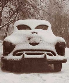 The car does NOT like being snowed on! (source unknown)