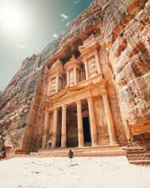 Petra, Jordan, one of the world's most famous and ancient ghost towns - photo by Spencer Davis (pexels.com)