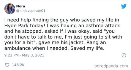 'Thanks for saving my life!'