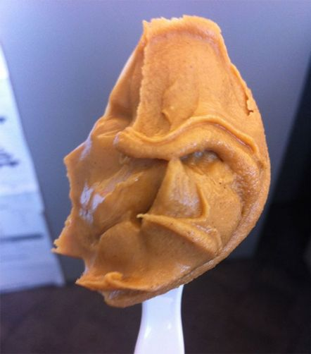 There are three types of peanut butter--smooth, crunchy, and curmugeonly (guess which one this is) (imgur.com)