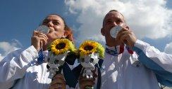 Two of the three San Marino Olympic medlists