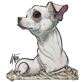 Chihuahua by John LaFree (caninecaricatures.com)