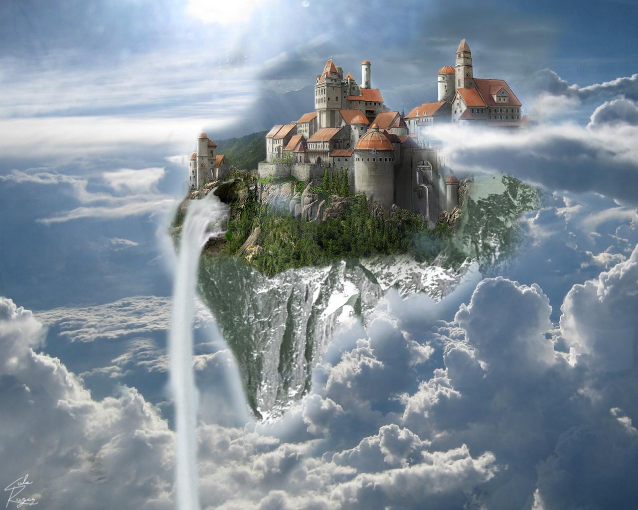 'Floating Castle' by AnAngryScottsman (deviantart.com)
