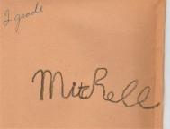 Mitch's 1st signature (on back of 'Hiawatha')