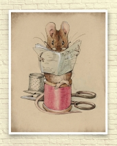Mouse Tailor on Break by Beatrix Potter