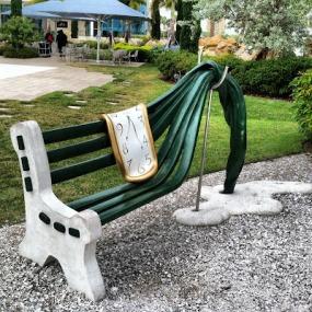 Bench at the Dali Museum in St. Petersberg, Florida (theworldofdeej.com)