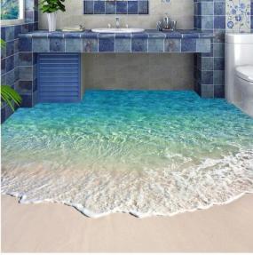 'Call the plumber!' beach floor mural (beddingandbeyond.club)