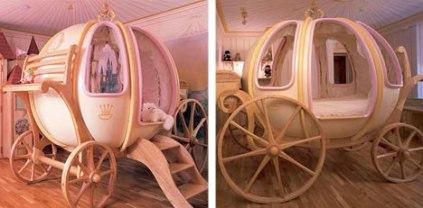 Cinderella Pumpkin Coach bed (weburbanist.com)