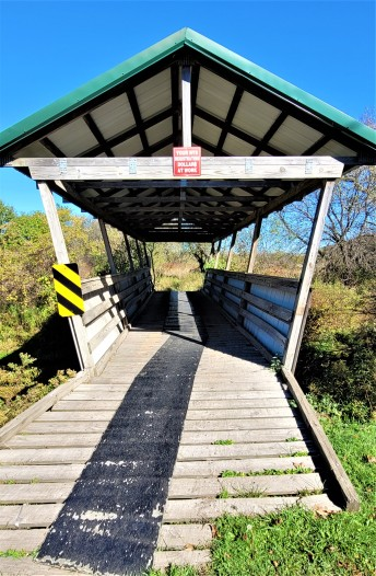 Covered bridge, off interstate 86 in New York