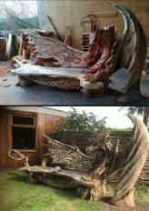Homemade Dragon Bench (imgur.com)