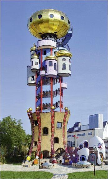 Hunderwasser Tower (architect's home), Abensberg(pinterest.com)