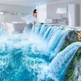 Waterfall floor mural (etsy.com)