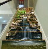 Waterfall stairs mural (ebay.com)