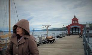 Watkins Glen Marina, pier, with Trudy