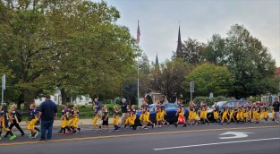 Westfield Homecoming Parade 4 (note old Welch's headquarters building in background)